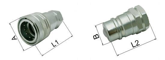 12L Stecker für Hydraulik 10L Hydraulikkupplung Hydraulikstecker 8L 18L 15L