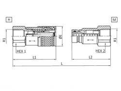 BG1/ DN6 Steckkupplung Stecker flachdichtend