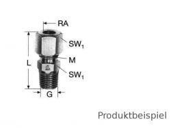 15L - G1/2 - Gerade Einschraubverschraubung BSP leicht