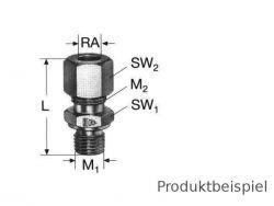 12S - M20x1,5 Gerade Einschraubverschraubung MS