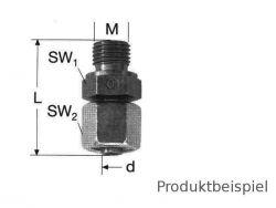14S - M22x1,5 Gerade Einschraubstutzen einstellbar MS