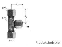 14S - M22x1,5 T-Verschraubung einstellbar MS