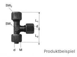 12S - M20x1,5 L-Verschraubung einstellbar MS
