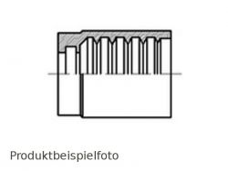 DN6-Pressfassung 1SN 2SN - Edelstahl